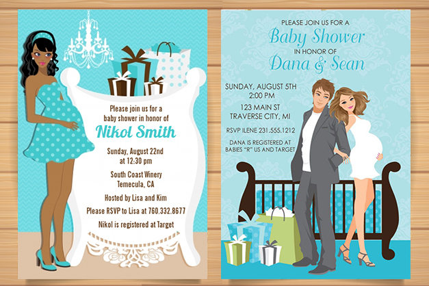 Baby shower invitations in india