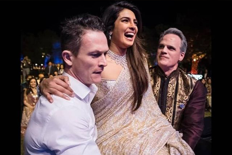 Priyanka with Groomsmen