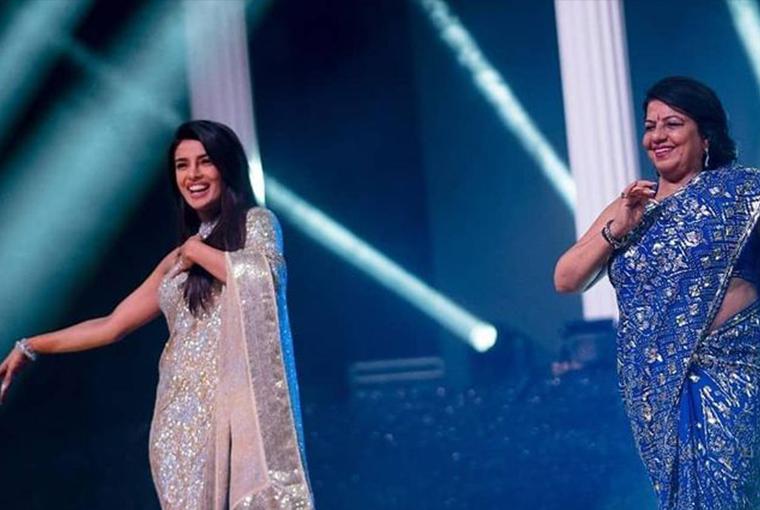 Priyanka Chopra dancing with her mom
