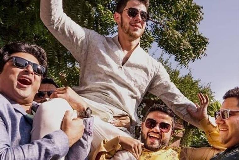 Nick Jonas in full swing
