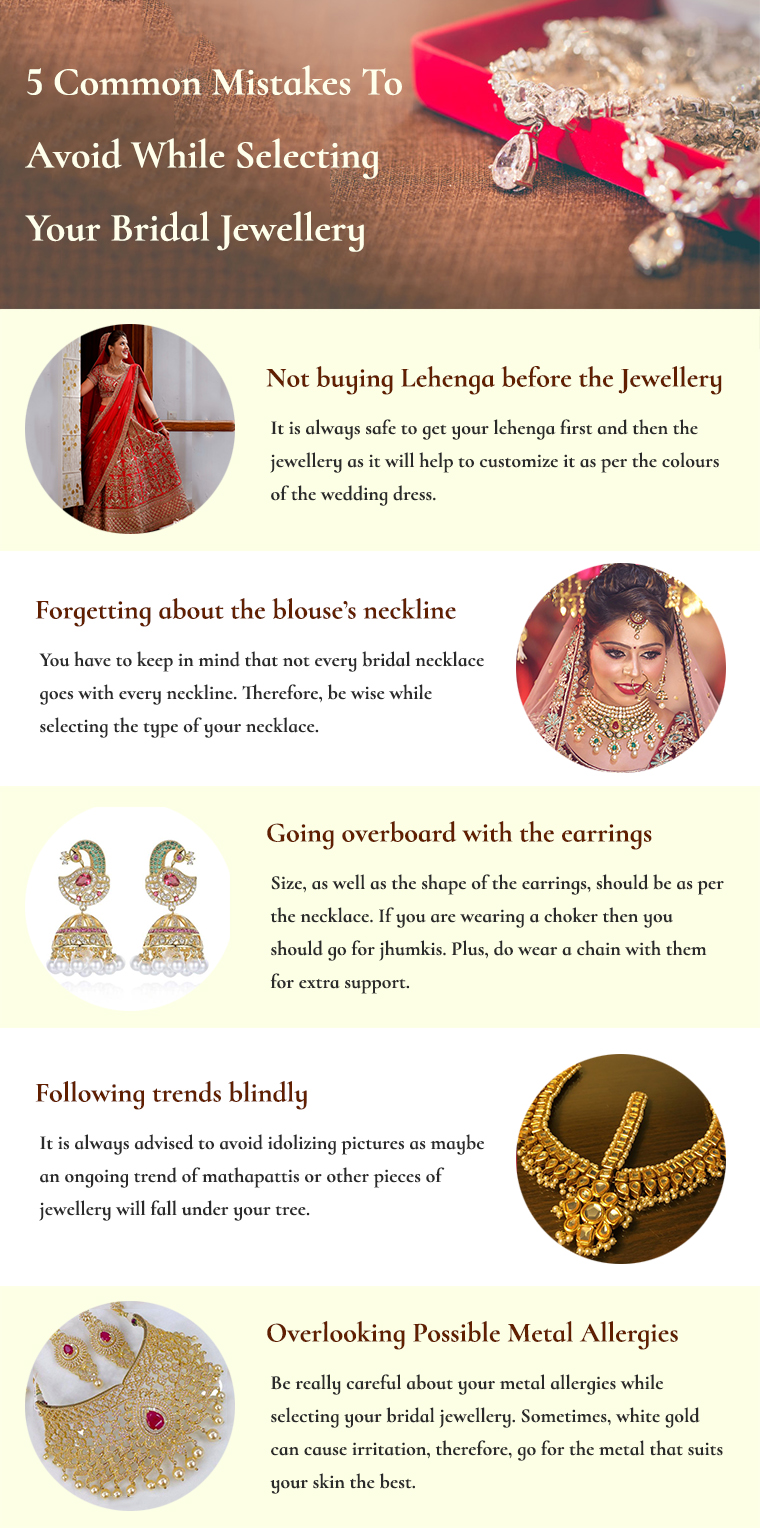 Mistakes To Avoid While Selecting Your Bridal Jewellery