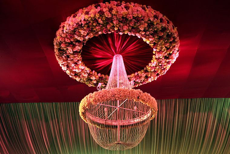 Floral Chandelier with a twist