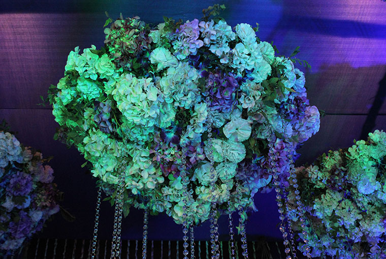 Floral Chandelier with tassles