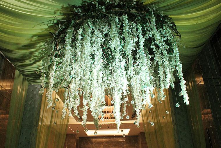 Green Floral Chandelier
