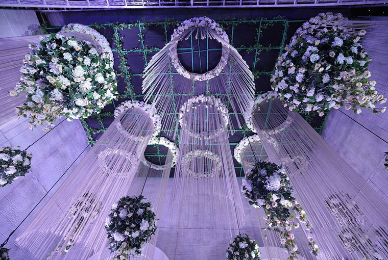 Floral Chandeliers to create a whimsical setting