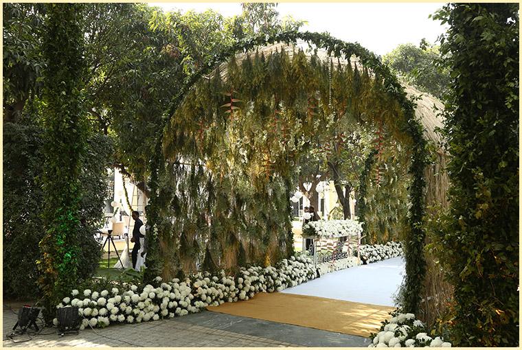 entrance for Summer Wedding venues