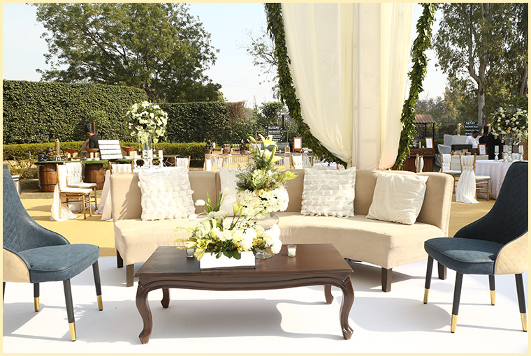 wedding lawns seating area