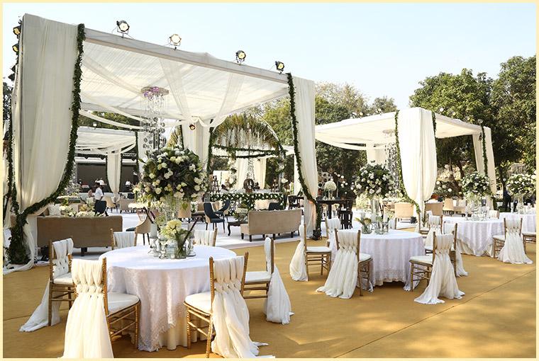 wedding venue seating area