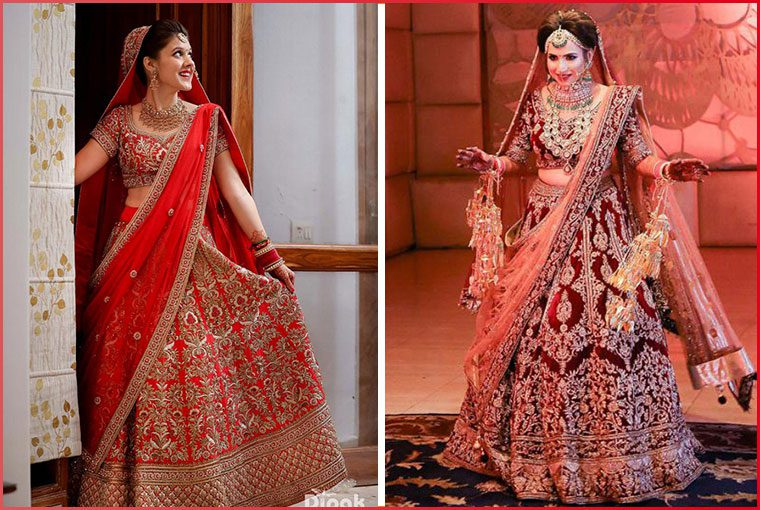 Bridal Shopping is one of the most important tasks of the wedding planning. We are sure that being the bride you must be leaving no stone unturned to look like a dream in your gorgeous bridal lehenga on the D-day. There are many factors involved in the selection of the right lehenga for the wedding. We have also mentioned about Picking the Perfect Shade for your Wedding Lehenga as per Skin Tone in our earlier blogs. In this blog we are considering the fact, that even your height plays a major role in selecting the lehenga. You must be wondering what does your height have to do with the lehenga design, well the answer is, A LOT! There are some designs that flatter taller heights, whereas there are some designs that are more suitable for short-height girls. So, to ensure that you choose a lehenga that accentuates your body type perfectly, here we enlist some key points that you must remember while shopping for your wedding lehenga. For the TALL Brides Ditch monotones as single-hued lehengas will further make you look taller. You need to break the color monotony and go for a dual-toned lehenga or a design with broad border in some other contrasting shade You can also experiment a little like going for a layered & scalloped lehengas Select a lehenga with bold and bigger embroidery as it will make you look more impactful As you must be having a long torso so you should opt for a short choli to flaunt it For the MEDIUM Height Brides Trust us, anything and everything can suit your body frame. You can go with your and opt for traditional or experimental, We advise you to pick a lehenga that's not replete with big and boisterous embroideries. The borders should not be too thin or too broad. If you are planning to wear a high-neck blouse, then keep it low-waist to strike a balance! For the SHORT Height Brides Brides with short height should totally avoid bold and bigger patterns of embroidery Lehenga adorned with intricate and dainty designs are your thing When it comes to fa