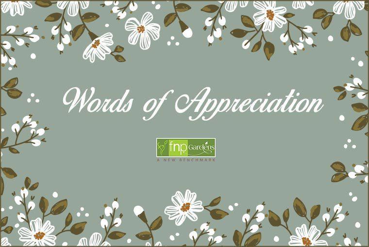 Words Of Appreciation