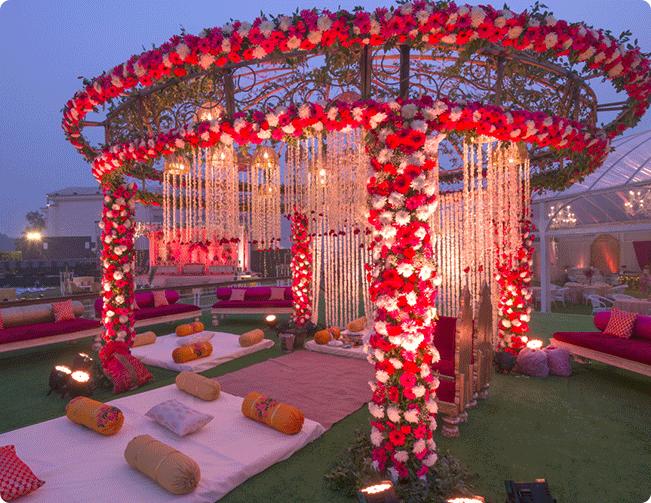 The Floral Affaire theme on venues