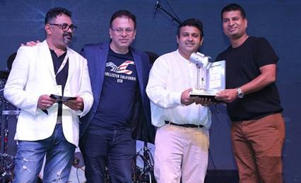 Best Venue Category presented award by EEMA