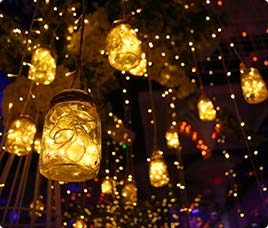 Lamp shades chandelier decoration by fnp gardens