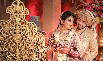 Donning a Shawl with your Wedding Lehenga