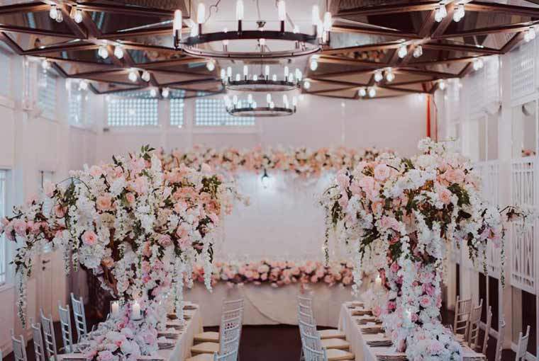 Pastel hues in wedding decor