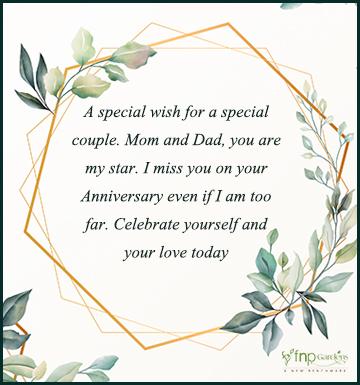 Anniversary Status for Parents