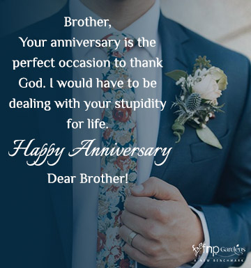 Best marriage anniversary wishes for brother