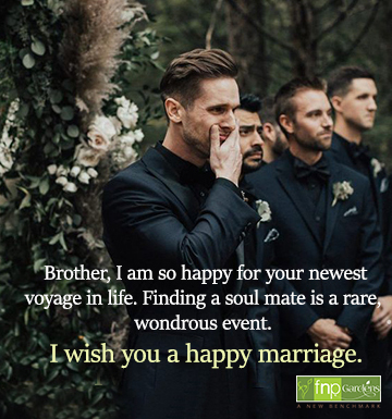 Best wedding wishes for brother