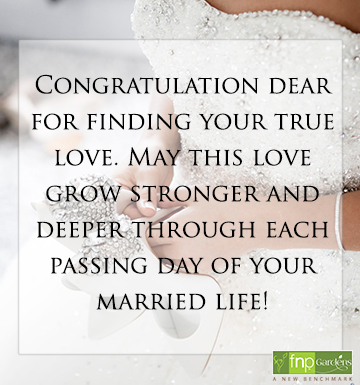 Congratulation Wedding wishes for Daughter