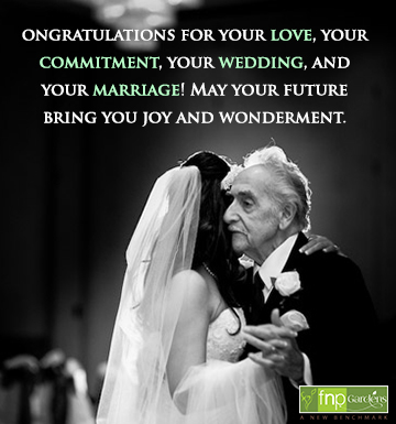 congratulations on your daughter's wedding images