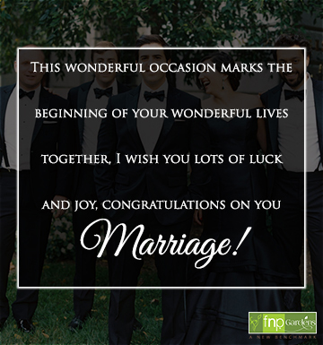 congratulations on your friend marriage