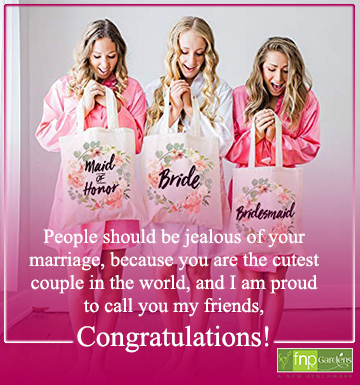 congratulations on your friend's wedding