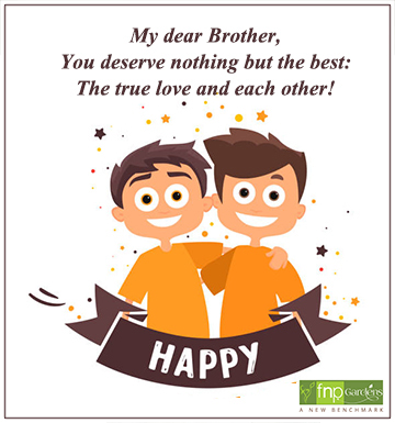 marriage day wishes to brother1