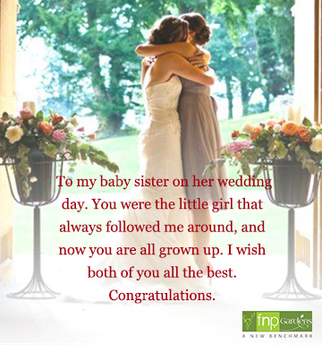 wedding congratulations wishes for sister