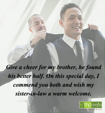 wedding wishes for brother and sister in law