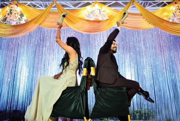 Shoe game at Indian Weddings