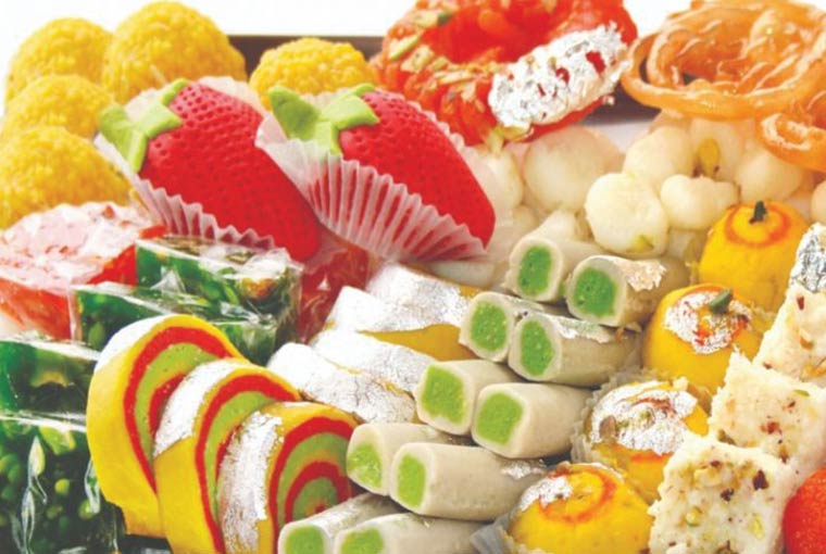 Sweet eat competition at Indian weddings