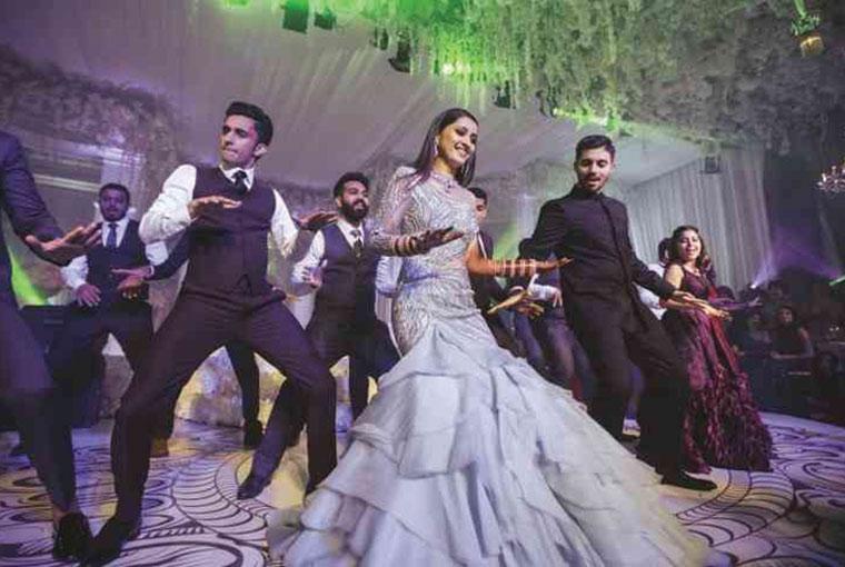 dance battle at Indian Weddings