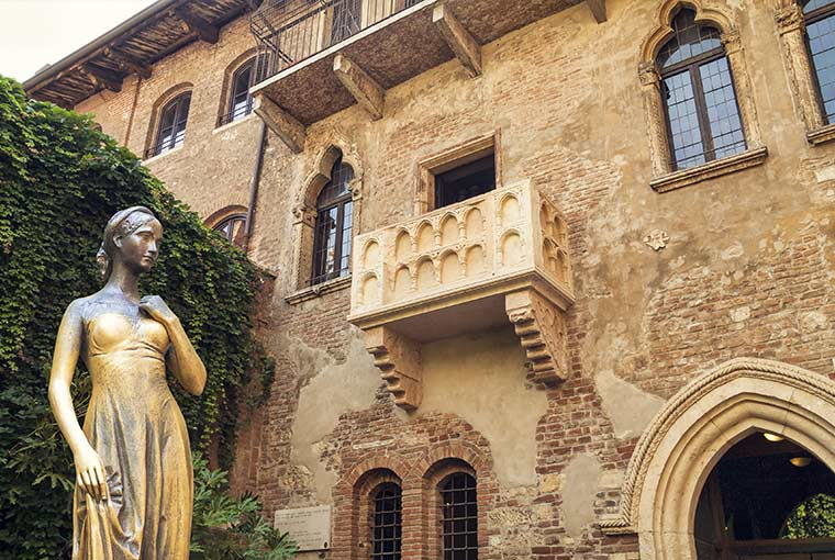 Juliet's Balcony at Casa di Giulietta, Verona