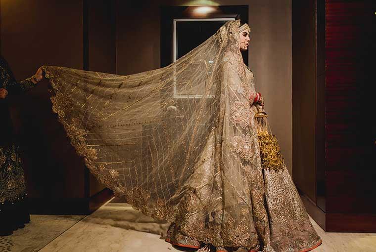 Golden Wedding lehenga