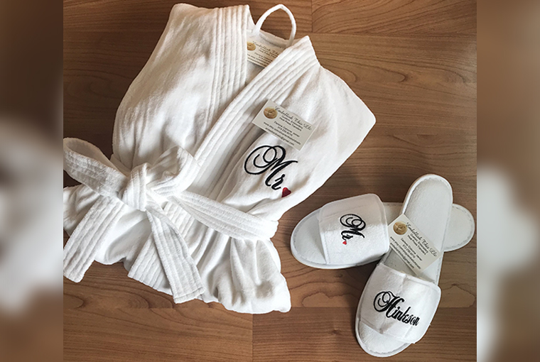 Personalised robes and slippers