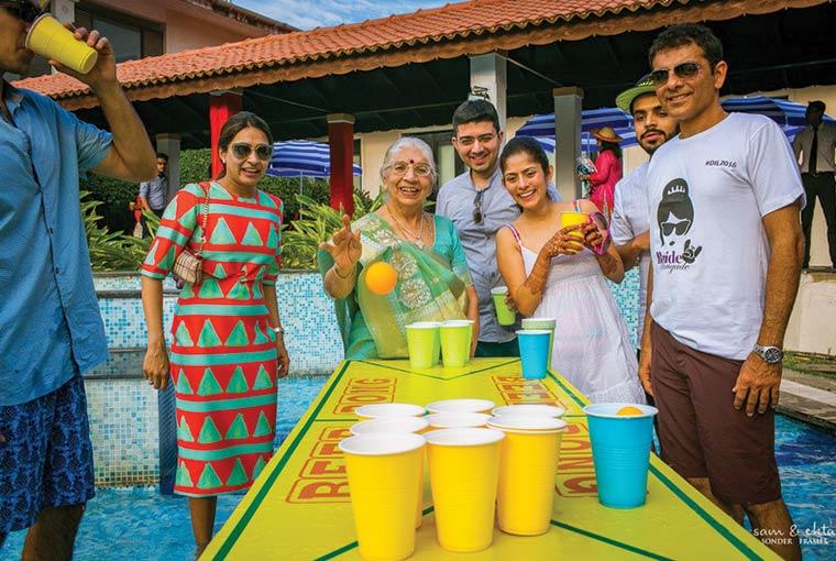 Beer pong at indian weddings