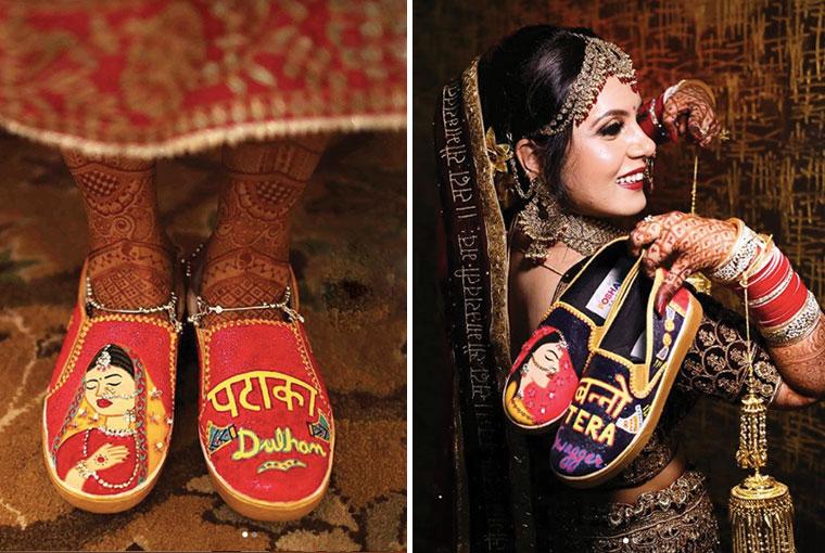 Poshampa's Bridal sneakers