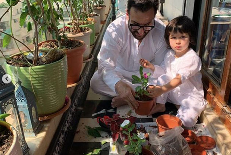 Saif and Taimur… giving major family goals
