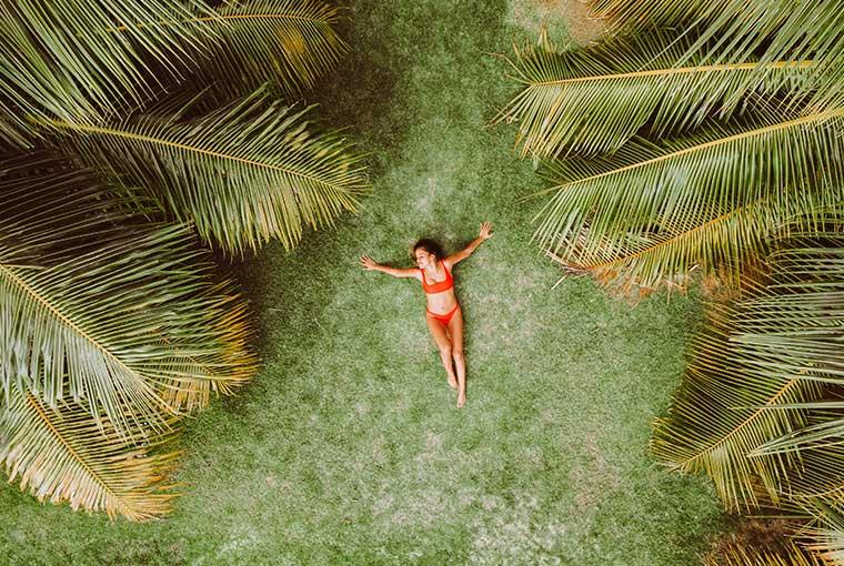 tropical beachwear